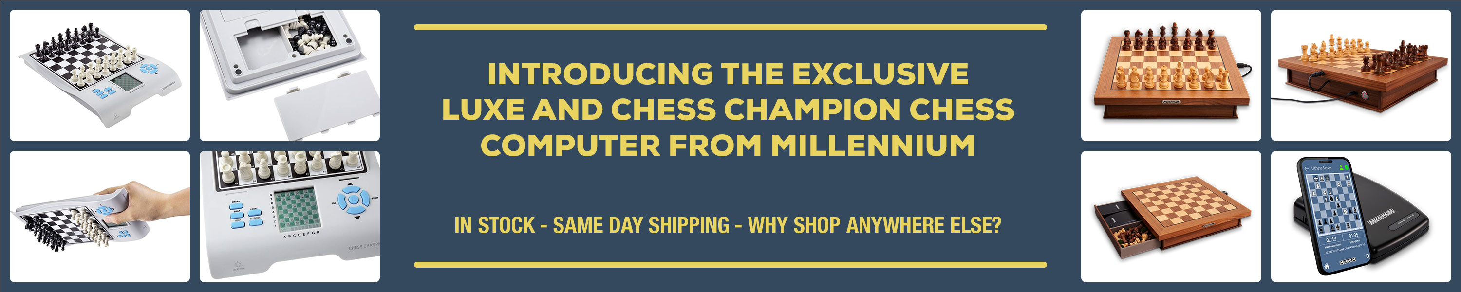Introducing the Exclusive Luxe and Chess Champion Chess Computer from Millennium